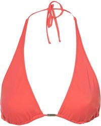 Topshop Coral Triangle Bikini Top - Lyst
