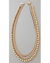 Tuleste - Snake Chain Pom Pom Necklace - Lyst