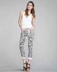 Diane von Furstenberg Floral-print Skinny Jeans - Lyst