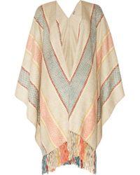 Haute Hippie - Woven Cotton Poncho - Lyst