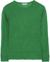 Chloé Fine-Knit Cashmere And Silk-Blend Sweater - Lyst