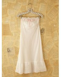 Free People Vintage Victorian Slip Dress - Lyst