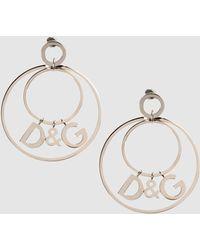 D&G Silver Earrings - Lyst