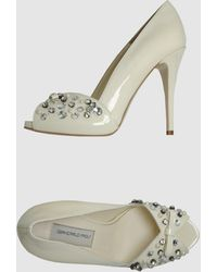 Giancarlo Paoli Pumps With Open Toe - Lyst