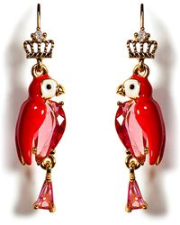 Juicy Couture - Gold-tone Parrot Small Drop Earrings - Lyst
