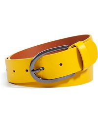 Cacharel Yellow Leather Belt yellow - Lyst