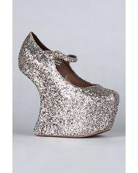 Jeffrey Campbell The Night Walk Shoe in Multi Glitter - Lyst