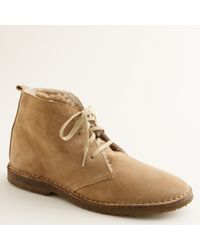 J.Crew Suede Shearling-lined Macalister Boots - Brown