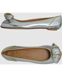 Maloles - Peeptoe Ballet Flats - Lyst