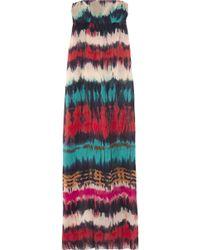 Milly Madras Plaid Silk Halter Dress In Multicolor Lyst