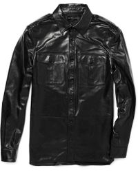 Ralph Lauren Black Label - Lightweight Leather Military-style Jacket - Lyst