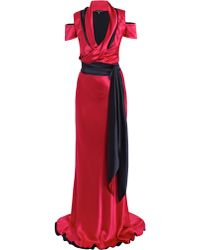 Sophie Theallet Double-crepe satin gown - Lyst