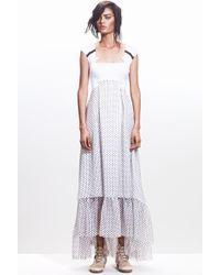 Jen Kao | Jersey & Silk Aztec Field Dress | Lyst