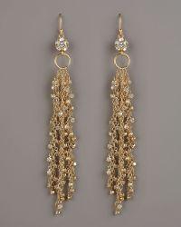 Fragments For Neiman Marcus Rhinestone Fringe Earrings - Lyst