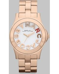 Marc By Marc Jacobs Multi-colored Crystal Accented Stainless Steel Watch/rose Goldtone Ion-plated - Lyst