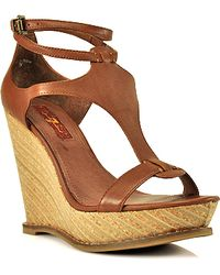 7 For All Mankind - Ankle-strap Wedge - Lyst