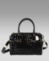 Cole Haan Heritage Weave Patent Bag - Black
