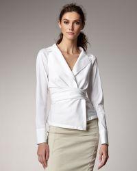 Donna Karan New York Poplin Shirt Jacket - Lyst