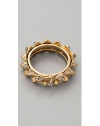 House of Harlow 1960 - Spike Stack Ring Set - Lyst