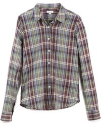 Steven Alan Reverse Seam Shirt brown - Lyst