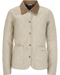 Barbour - Taupe Summer Liddesdale Quilted Jacket - Lyst