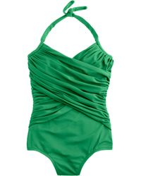 J.Crew Ruched Crossover Halter Tank - Lyst