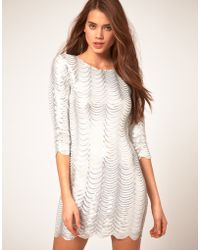 TFNC Tfnc Dress in Scalloped Sequin - Lyst