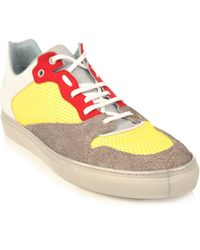 Balenciaga Low Yellow Trainers - Lyst