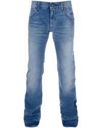 Dolce & Gabbana Straight Leg Jean - Lyst