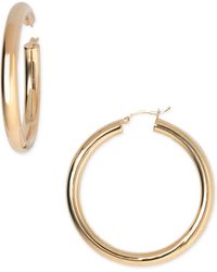 Argento Vivo Medium Tube Hoop Earrings - Lyst
