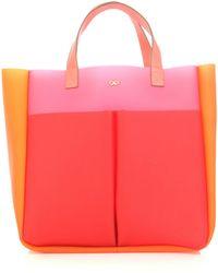 Anya Hindmarch Raw Nevis Tri-colour Bag - Lyst