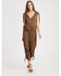 Donna Karan New York Draped Jumpsuit - Lyst