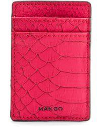 Mango Animal Texture Credit Card Holder - Lyst