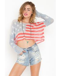 Nasty Gal Born On The 4th Of July Knit - Lyst