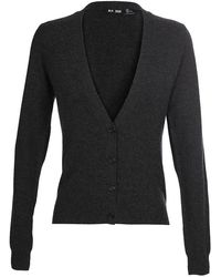 BLK DNM   Cashmere Cardigan With Leather Elbow Patches   Lyst