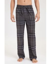 Burberry Check Print Pajama Pants - Lyst