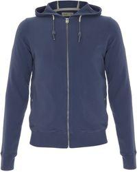 Folk Navy Jersey Hooded Zip Jumper - Blue