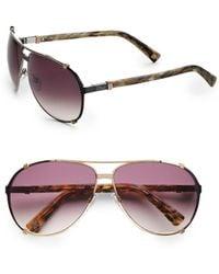 Dior Metal Aviator Sunglasses - Lyst