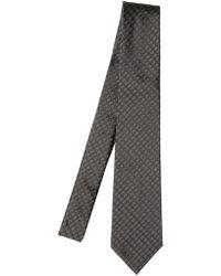 Dior Homme Silk Logo Jacquard Tie gray - Lyst