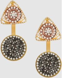 Erickson Beamon Earrings gold - Lyst