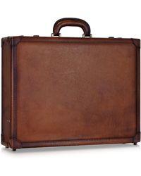 Pratesi Small Leather Case - Brown