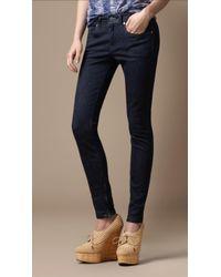 Burberry Brit Zip Cuff Skinny Jeans - Blue
