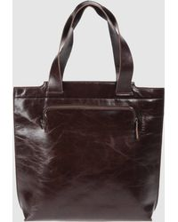 Mh Way - Large Leather Bag - Lyst