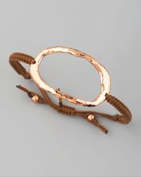 Tai - Hammered Oval Ring Bracelet - Lyst