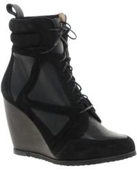 Asos Asos Ark Leather Wedge Ankle Boots - Lyst