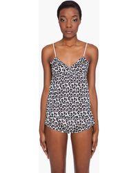 3.1 Phillip Lim Leopard Print Ruffle Camisole - Lyst