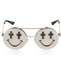 Jeremy Scott Shiny Smile Sunglasses - Lyst
