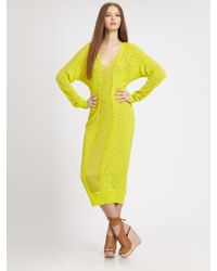 Rebecca Taylor Runway Semi-sheer Textured Sweaterdress - Lyst