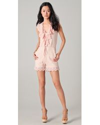 Alice By Temperley - Surya Lace Playsuit - Lyst