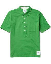 Black Fleece By Brooks Brothers - Button-down Collar Piqué Polo Shirt - Lyst